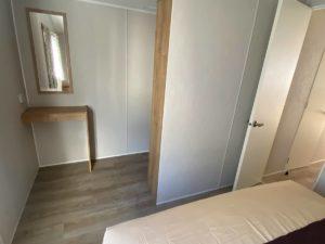 Habitación de matrimonio de la Mobil Home Willerby Timanfaya 2 habitaciones