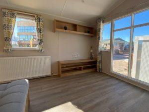 Salón de la Mobil Home Willerby Timanfaya 2 habitaciones